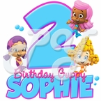 Bubble Guppies personalized birthday t-shirt