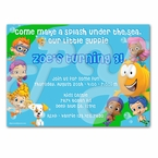 Bubble Guppies personalized invitations