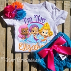 Bubble Guppies Personalized Petti Lace Bloomer/Shorts Birthday Set