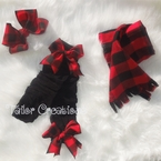 Buffalo plaid Christmas Leg warmers