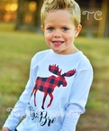 Buffalo plaid Moose Personalized Shirt