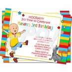 Caillou Personalized Invitations