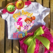 Candyland Personalized Birthday Petti Lace Set