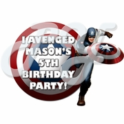 Captain America personalized party favors
