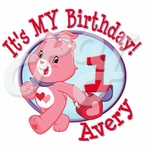Care Bears Love a Lot Personalized Birthday t shirt