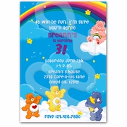 Care Bears personalized invitations