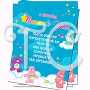 Care Bears personalized Thank you Cards