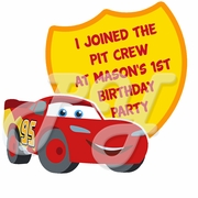 Cars 1st Birthday personalized party favor