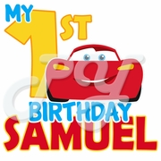 Cars 1st Birthday personalized t shirt