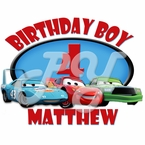 Cars Personalized  Birthday t shirt