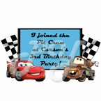 Cars Personalized Party Favor