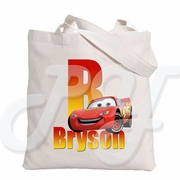 Cars personalized tote bag