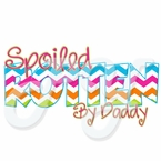 "Chevron Spoiled Rotten By ""________"" Personalized t shirt"