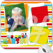 Choo Choo Train Personalized Photo Mouse pad