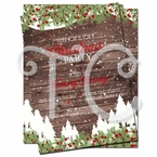 Rustic Christmas invitations