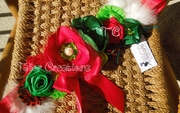 Christmas Holiday, Red and Green Maternity Sash