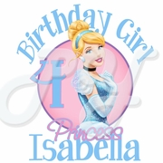Cinderella Personalized Birthday t shirt