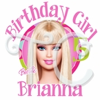City Barbie Personalized Birthday t shirt