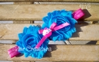Cotton Candy Cupcake Shabby Chic flowers Headband