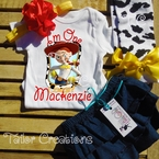 Cowgirl Jessie Denim Bloomers Personalized Set