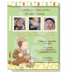 Curious George 1st Birthday Personalized inviations