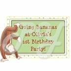 Curious George 1st Birthday Personalized party favors