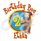 Curious George Personalized  Birthday t shirt