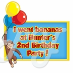 Curious George Personalized Party Favor