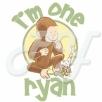 Curious George1st Birthday pesonalized t shirt