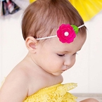 Custom Felt Pearl Flower Headband