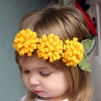 Custom Pom Pom felt flower Headband