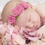Custom Trio Felt Rose Headband