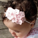 Custon Hydrangea Felt Pearl Headband