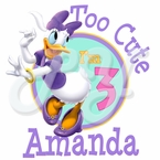 Daisy Duck Dream party personalized birthday t shirt