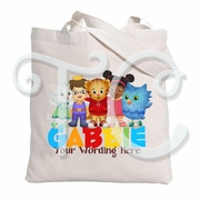 Daniel's Tiger Neighborhood Personalized Canvas Tote Bag