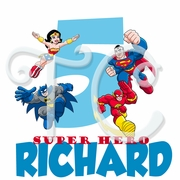 DC Super Friends Personalized Birthday t shirt