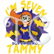 DC Superhero Girls Batgirl Personalized Birthday t shirt