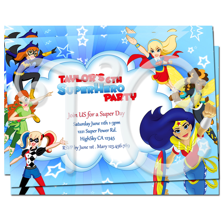 personalized superhero birthday invitations Intoanysearchco