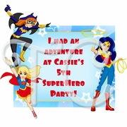 DC Superhero Girls Personalized Party Favor