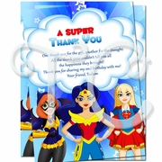DC Superhero Girls Personalized Thank you cards