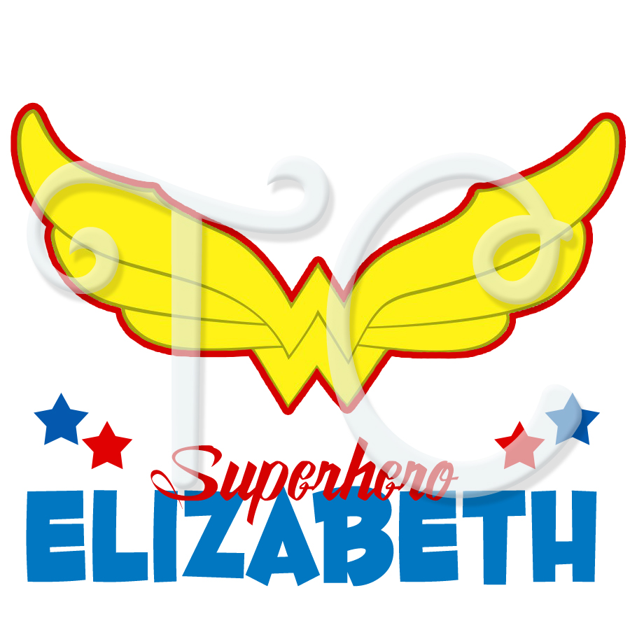 dc superhero girls wonder woman logo personalized birthday