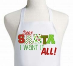 Dear Santa personalized apron