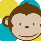 Deluxe Mod Monkey Personalized Party Pack