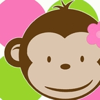 Deluxe Pink Mod Monkey Personalized Party Pack