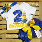Despicable me Minions Personalized Petti Lace Set