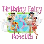 Disney Fairies Tinkerbell Personalized birthday t shirt