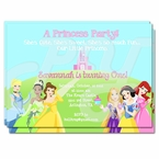 Disney Princess 1st Birthday Personalized Invitations