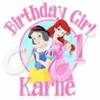 Disney Princess 1st Birthday Personalized t shirt