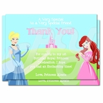Disney Princess 1st Birthday Personalized Thank you Cards