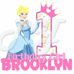 Disney Princess 1st Cinderella Birthday Personalized t shirt